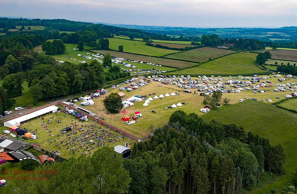 Orbit festival aerial view