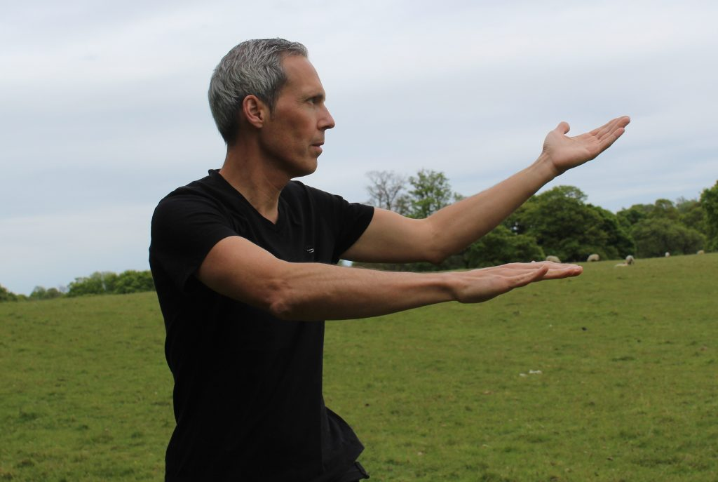 Stuart McLeod practising TMW