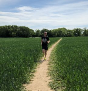 Stuart running in Kent.May 2020